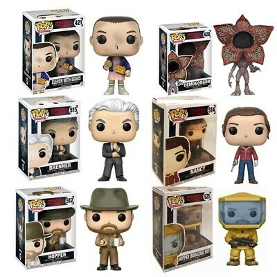 Funko Pop Stranger Things Eleven 11 Serie TV Hopper Demogorgon Portachiavi Key