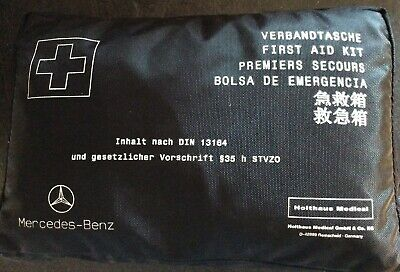 New Genuine Mercedes Benz First Aid Kit Emergency Safety Road Packet Car Travel