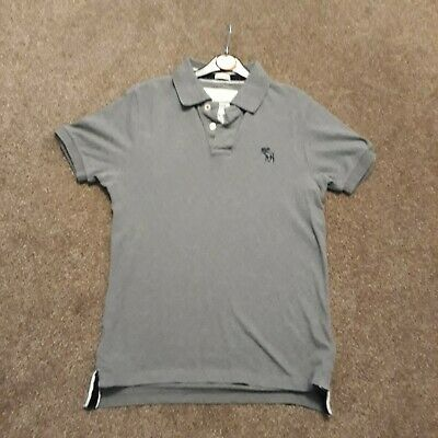 74dec5d1b Men's Grey Abercrombie and Fitch Muscle Fit Polo Shirt Size Small free  Hilfiger