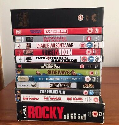 DVD Job Lot 21 Mixed Rocky The Godfather Inglorious Bastards Die Hard Bourne