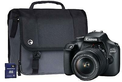 Brand New CANON EOS 4000D Digital SLR Camera + EF-S 18-55mm III Lens Kit Black
