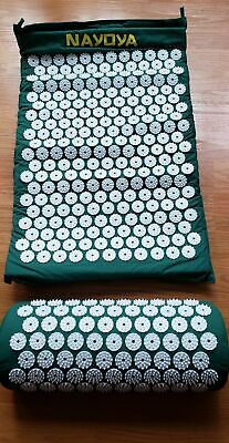 NIP Nayoya Acupressure Mat and Pillow Set - For Headache and Back Pain Relief