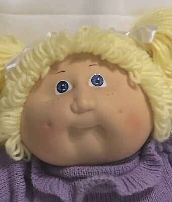 Vintage 1980s Cabbage Patch Doll Head Face Pin 1983 Retro Lot of 3 Plastic Rare