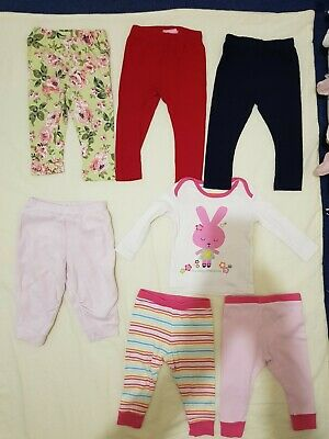 Girls pyjamas and trousers. Bundle of 7 items. Different brands