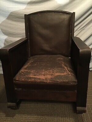 ANTIQUE EMPIRE/MISSION,CHAIR and ROCKER, ARTS And CRAFTS