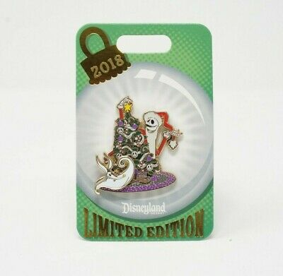 Disney Parks Jack & Zero Disneyland Happy Holidays 2018 Limited Edition Pin NBC