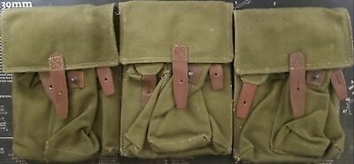SET OF 3 ROMANIAN 3-CELL POUCHES USED SURPLUS 7.62x39 5.45X39