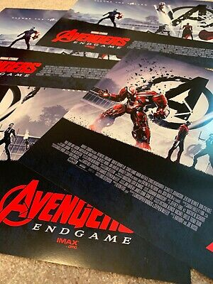 "AVENGERS ENDGAME AMC IMAX MINI POSTER 11"" x 15.5 "" LOT OF 2"
