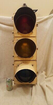 Vintage Traffic Signal Control Light Aluminum
