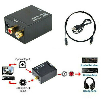 3.5mm Optical Coaxial Toslink Digital to Analog Audio Converter Adapter RCA L/R