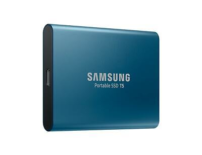 "500GB Samsung T5 2.5"" USB Portable External SSD Solid Drive Storage Type C Blue"