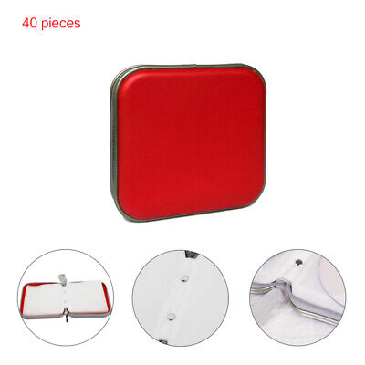 Red DVD Carry Case Disc Storage Holder CD Sleeve Wallet Ideal 40 Page for In Car