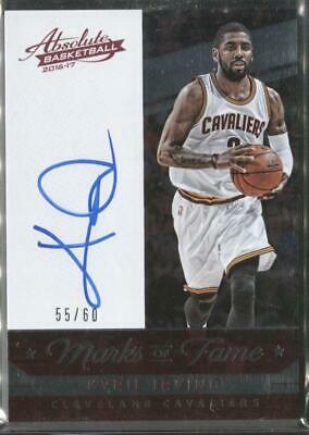 7a2f2a7067b7 2016-17 Kyrie Irving Panini Absolute Memorabilia Marks of Fame AUTO (55 60