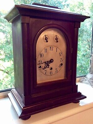 EXTRA LARGE Mahogany Westminster chime mantel clock made in German