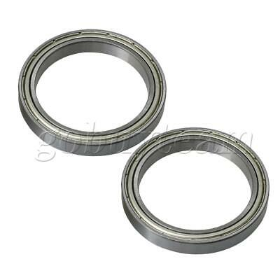 2 Pieces 61808ZZ Silver Replacement Parts Precision Single Ball Bearing