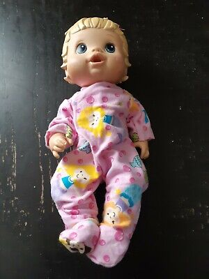 Homemade Little Baby Alive (33cm Doll) Pink With Mermaids Coverall Pyjamas
