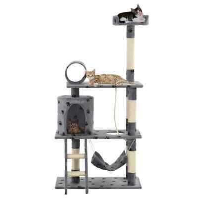 Kitten Cat Tree Scratching Posts Sisal Activity Centre Paw Cat Pet Toy