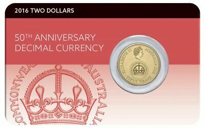 Australia 2016 $2 Decimal Currency 50th Anniversary Uncirculated Coin