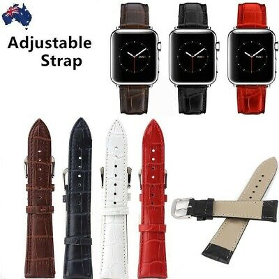 Crocodile Style Genuine Leather Apple watch strap Band for Apple Watch Series