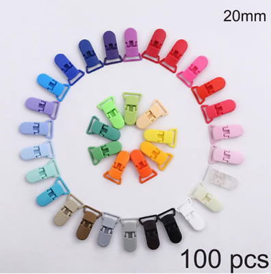 100pcs Plastic Baby Pacifier Clips Dummy Pacifier Clips Soother Holder for Baby