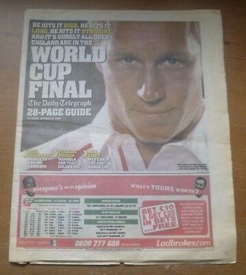 Rugby World Cup Final 2007 Preview Newspaper Guide (The Daily Telegraph).