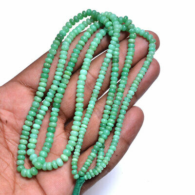 """130 Cts Natural Chrysoprase Cabochon Round 3-5 MM Loose Beads 2"""" Strand"""