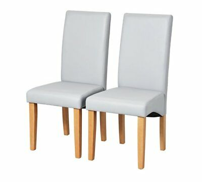 Peachy Pair Of Skirted Dining Chairs Grey 74 99 Picclick Uk Ibusinesslaw Wood Chair Design Ideas Ibusinesslaworg