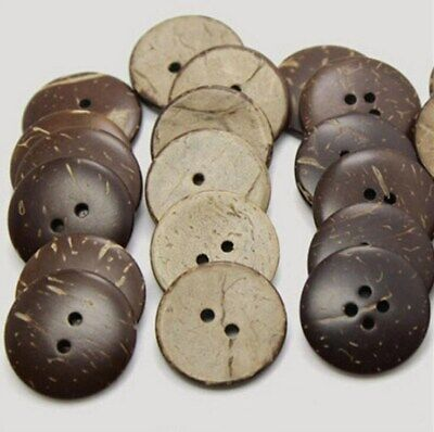 10 Round Cream Coconut Shell Hollowed design Buttons 15mm Sewing Scrapbook