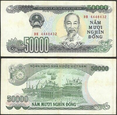 VIETNAM - 50.000 dong 1994 P# 116 Asia banknote - Edelweiss Coins