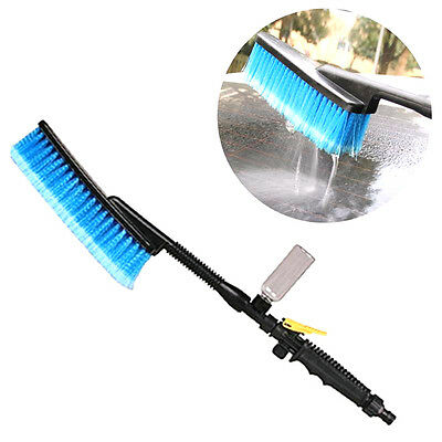 Water Fed Car Window Wash Cleaning Brush Attach To Hose Pipe Cleaner Brush Tool