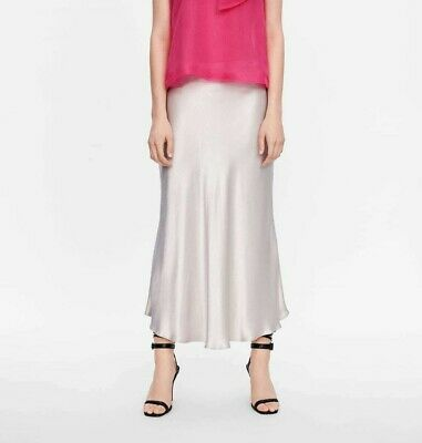 e7869a982a ZARA WOMAN NEW 2019 Flowy Satin Silver Skirt Ref: 4886/053 - $58.90 ...