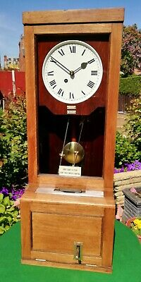 Antique 1941 Gledhill Brook Fusee Time Recorder/Clocking In Machine Wall Clock N