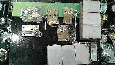 Solid brass cabinet locks with keys
