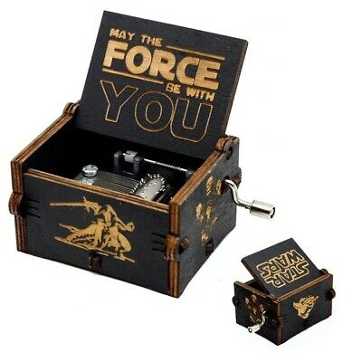 Star Wars Main Title theme ♫♫♫ engraved handmade wooden music box ♫♫♫