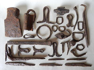 lot of ancient Vikings iron artefacts. Kievan Rus.