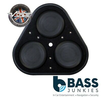 "Vibe BLACKAIRP8-V6 8"" 20cm 1500 Watts Passive Triangular Car Subwoofer Enclosure"