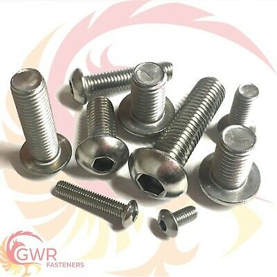3mm 4mm 5mm 6mm Socket Button Head Screws - A2 Stainless Steel - Allen Roundhead