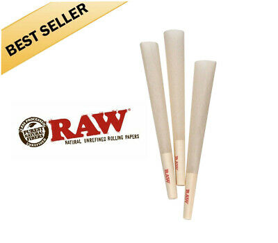 50 Pack - RAW Classic Cones organic 1 1/4 Authentic Pre-Rolled Cones w/ Filter