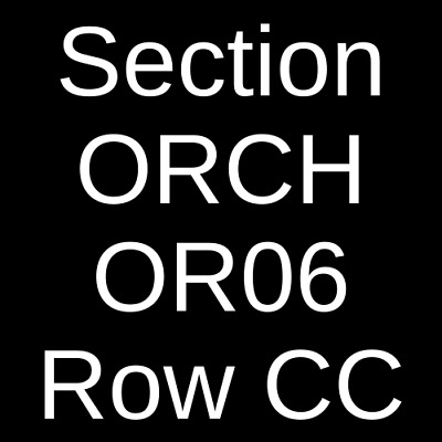 2 Tickets Vampire Weekend 6/12/19 Fabulous Fox Theatre - St. Louis St. Louis, MO