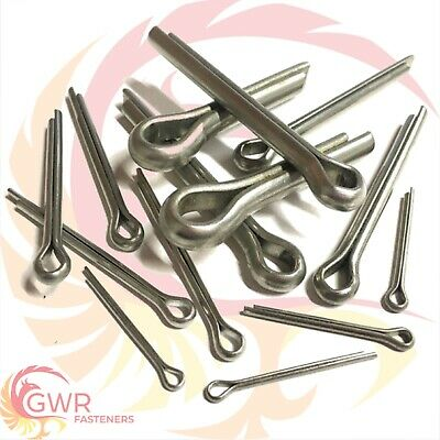 1mm 1.6mm 2mm 2.5mm 3mm 4mm 5mm 6.3mm 8mm 10mm Cotter Split Pins - A2 Stainless