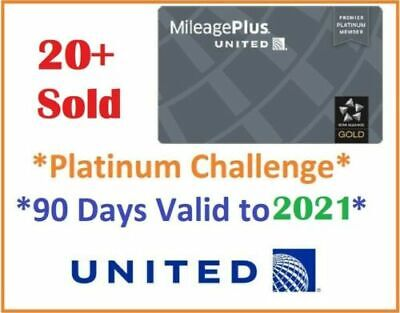 UNITED Premier Platinum STATUS UPGRADE Star Alliance Gold, 90days challenge