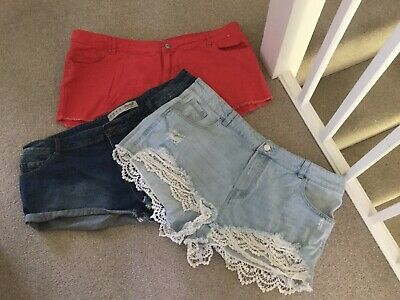 Bundle Of Three Ladies Summer Shorts Size 20