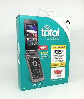 Total Wireless ZTE Cymbal T Flip Style Smartphone NEW Sealed Ready to Activate