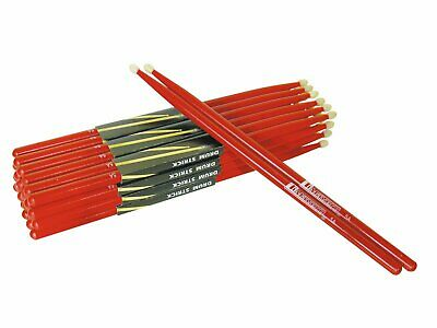 DIMAVERY DDS-5A Drumsticks - Ahorn - Rot - mit Nylon-Top