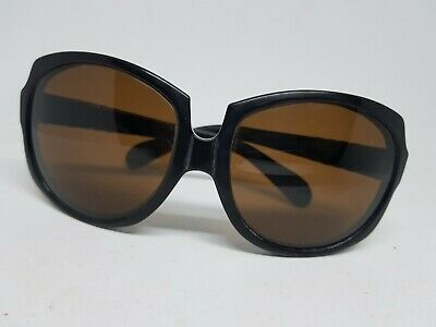7ae2f76fdc62a RARE VINTAGE PERSOL Sunglasses 402(69218) BLACK with BROWN Lenses ...