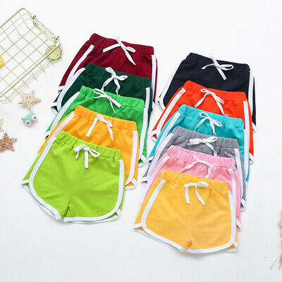 Toddler child Baby Boys Girls Candy Solid Fashion Short L Pants Everyday Clothes
