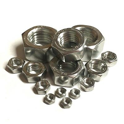 3mm 4mm 5mm 6mm 8mm 10mm 12mm 16mm LEFT HAND THREAD Hex Full Nuts A2 Stainless