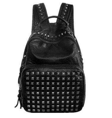 Hot Sale  Rivet Backpack Women Bag Mochila  Girl Backpack  Large Capacity
