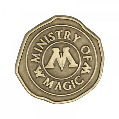 Harry Potter Badge - Ministry of Magic Wax Seal - Antic Gold Plated Metal