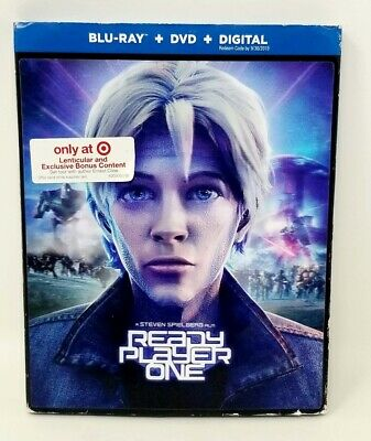 Ready Player One (Blu-ray+DVD+Digital, 2018; Target Exclsv) w/ Lenticular Slip